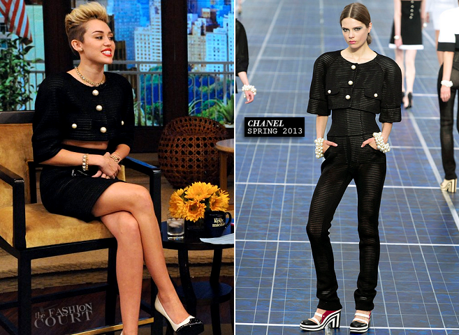 Miley Cyrus in Chanel | 'Live with Kelly and Michael'