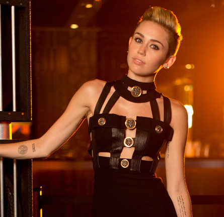 Miley Cyrus in Vintage Versace | iHeartRadio Ultimate Pool Party