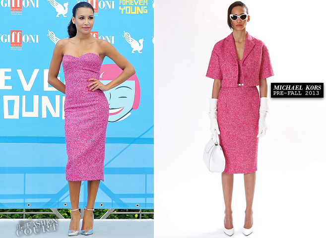 Naya Rivera in Michael Kors | 'Glee' Photocall - 2013 Giffoni Film Festival