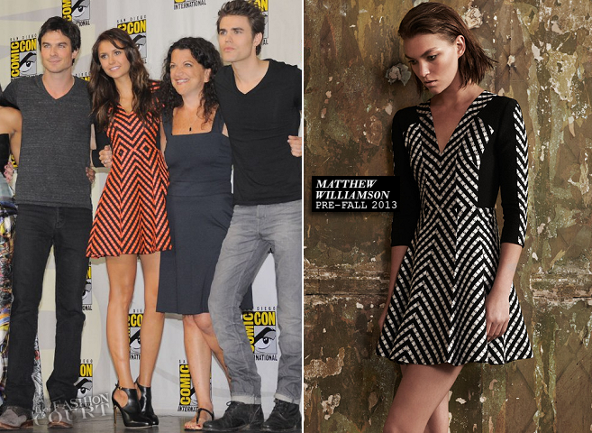 Nina Dobrev in Matthew Williamson | Comic-Con 2013: 'The Vampire Diaries' Panel