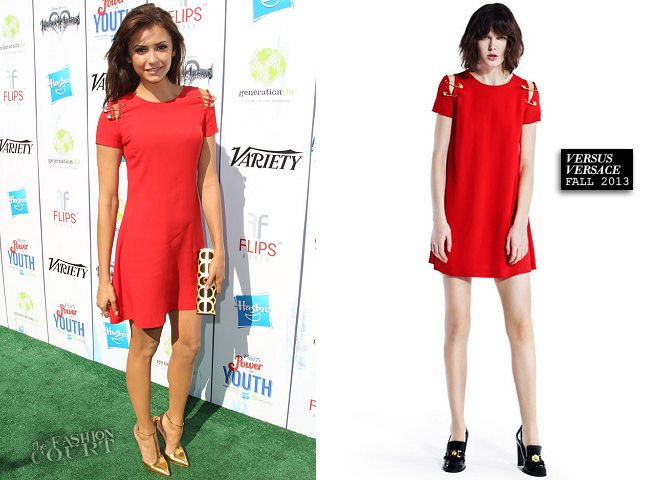 Nina Dobrev in Versus Versace | Variety's Power Of Youth 2013
