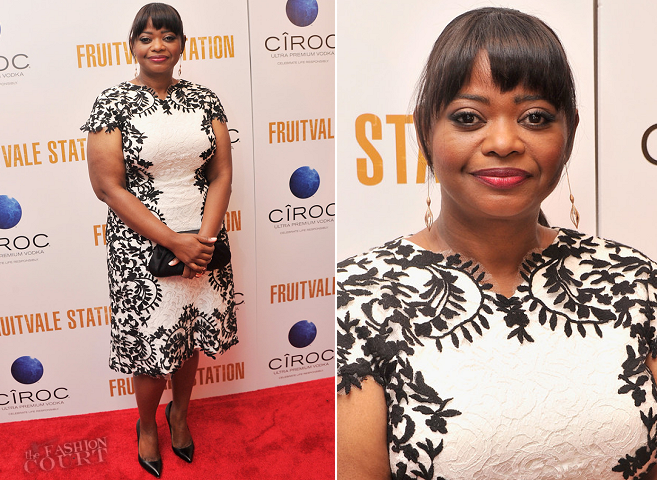 Octavia Spencer in Tadashi Shoji | 'Fruitvale Station' NYC Screening