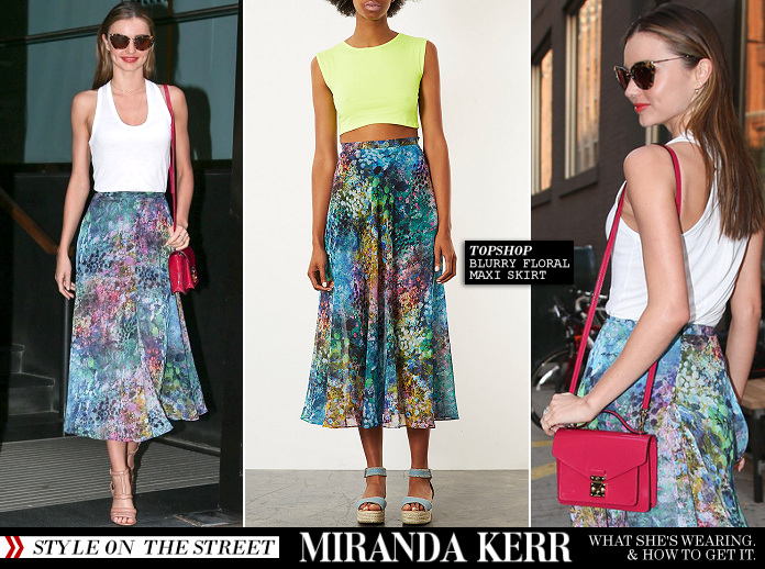Miranda Kerr's Perfects Summer Style in Topshop!