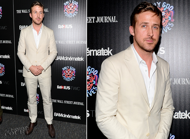 Ryan Gosling in Salvatore Ferragamo | 'Only God Forgives' NYC Premiere