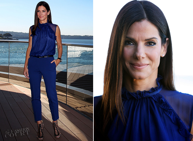 Sandra Bullock in Alberta Ferretti | 'The Heat' Sydney Photocall