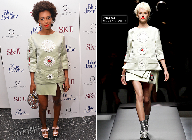 Solange Knowles in Prada | 'Blue Jasmine' NYC Premiere