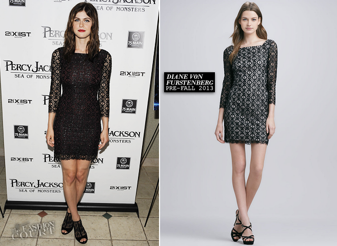 Alexandra Daddario in Diane von Furstenberg | 'Percy Jackson: Sea Of Monsters' Hamptons Premiere