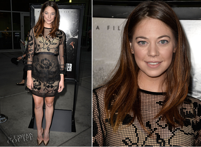 Analeigh Tipton in Alberta Ferretti | 'The Grandmaster' Los Angeles Screening