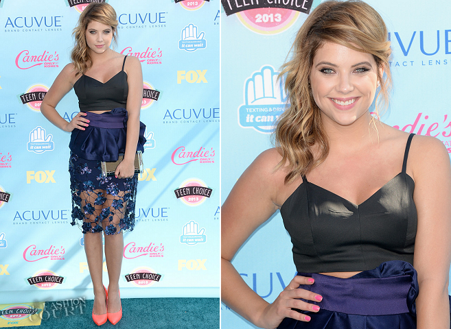 Ashley Benson in Giorgio Armani and Bec & Bridge | 2013 Teen Choice Awards