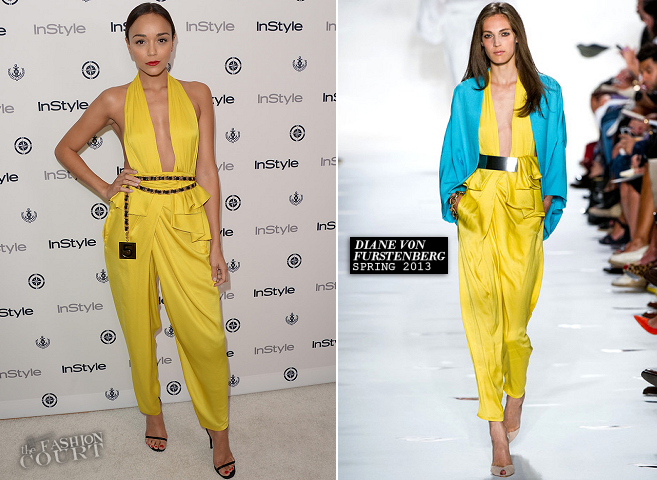 Ashley Madekwe in Diane von Furstenberg | InStyle Summer Soirée 2013