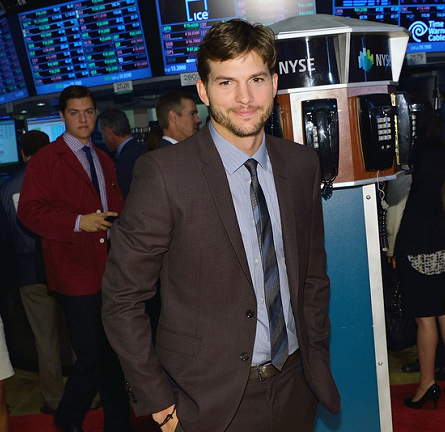 Ashton Kutcher in Burberry Prorsum | Ringing the Opening Bell at the NYSE