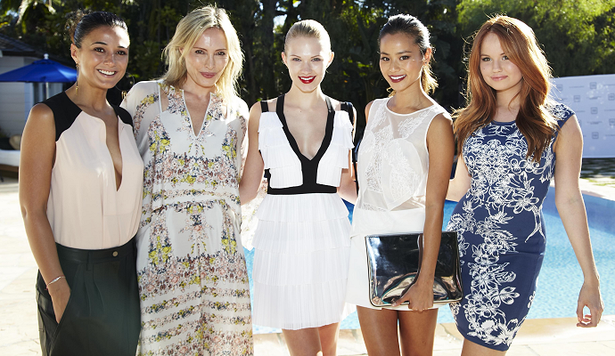 Poolside Front Row for BCBGMAXAZRIA's Resort 2014 Fashion Preview Event!