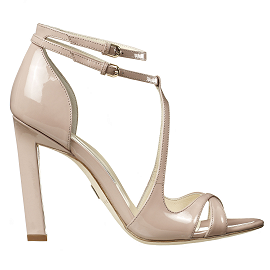 Brian Atwood HESTER Sandals in Nude Patent