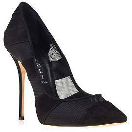 Casadei Fall 2013 Casadei Rodio Steelix Mesh and Suede Panel Pumps