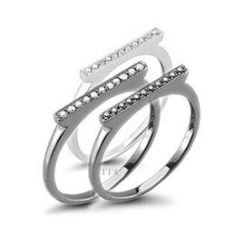 Dana Rebecca Designs SYLVIE ROSE Bar Rings (Stacked)