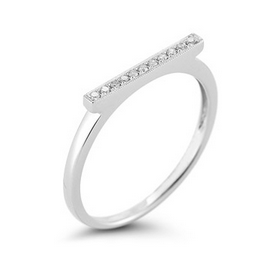 Dana Rebecca Designs Sylvie Rose Bar Ring with White Diamonds