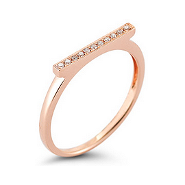 Dana Rebecca Designs Sylvie Rose Ring in Rose Gold