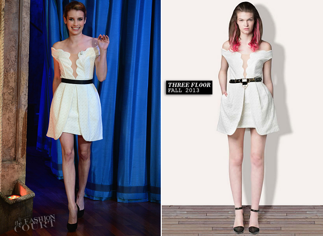 Emma Roberts in Three Floor | 'Late Night with Jimmy Fallon'