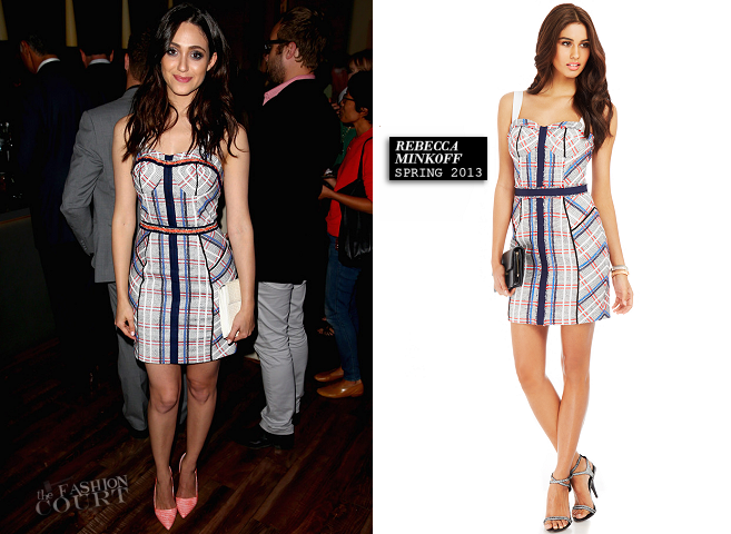 Emmy Rossum in Rebecca Minkoff | Delta Air Lines Summer Celebration