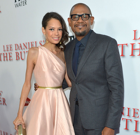 Forest Whitaker in Prada & Keisha Nash Whitaker in Romona Keveza | 'The Butler' LA Premiere