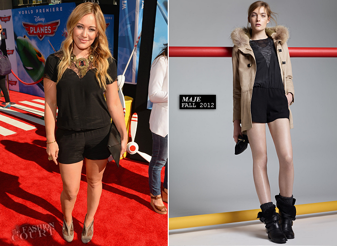 Hilary Duff in Maje | 'Planes' Hollywood Premiere