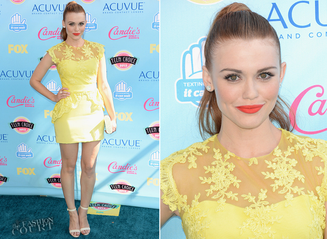 Holland Roden in Notte Marchesa | 2013 Teen Choice Awards