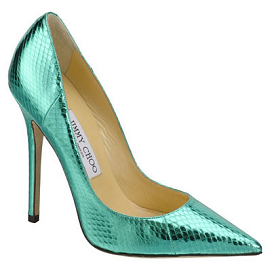 Jimmy Choo Metallic Embossed ANOUK Pumps