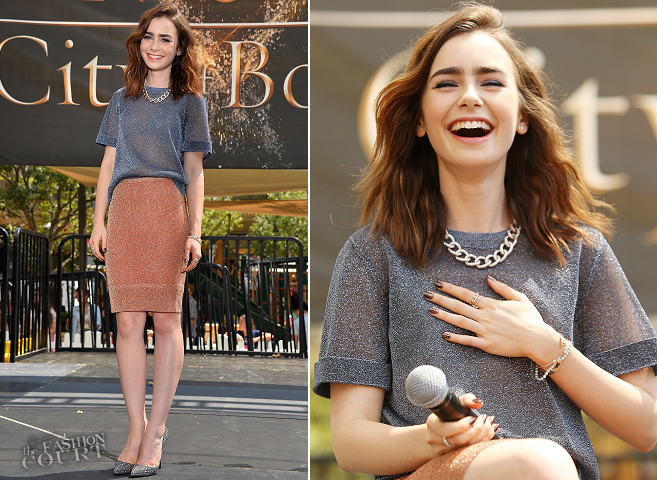 Lily Collins in Bec & Bridge | 'The Mortal Instruments: City of Bones' LA Meet & Greet