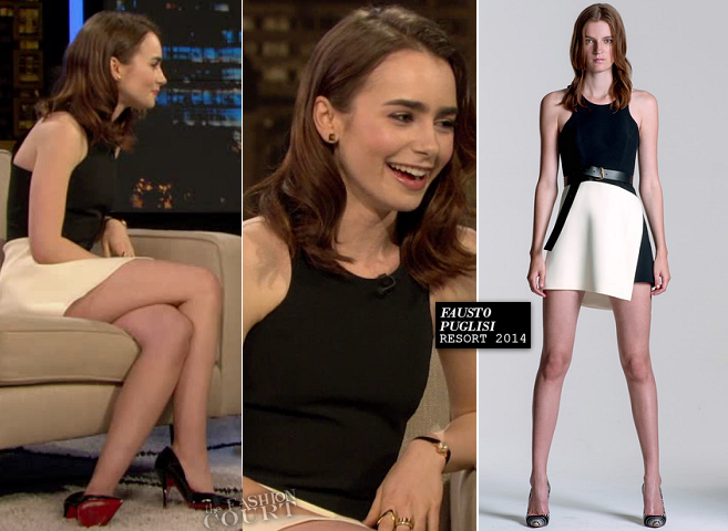 Lily Collins in Fausto Puglisi | 'Chelsea Lately'