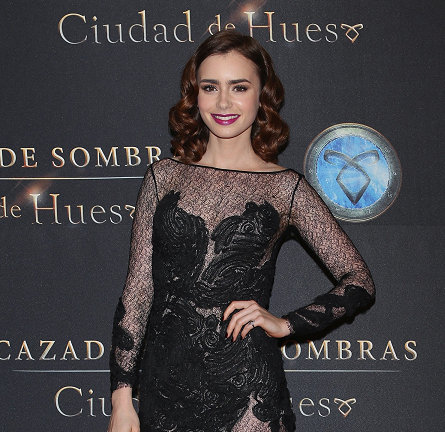 Lily Collins in Dyanthe | 'The Mortal Instruments: City of Bones' Mexico City Premiere