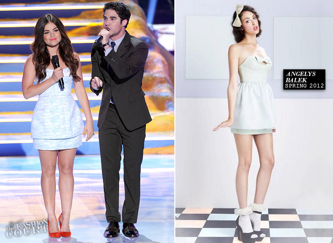 2013 Teen Choice Awards - The Fashion Wrap: Lucy Hale & Darren Criss