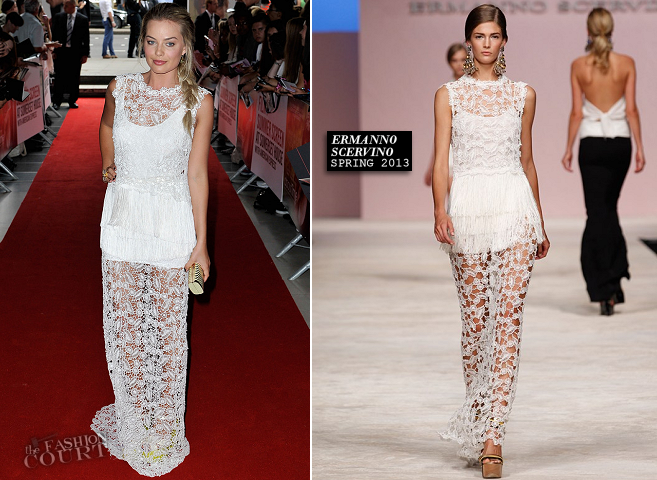 Margot Robbie in Ermanno Scervino | 'About Time' London Premiere