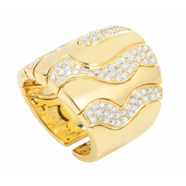 MARINA B 18K Yellow Gold 'PARDY Ring with Diamonds