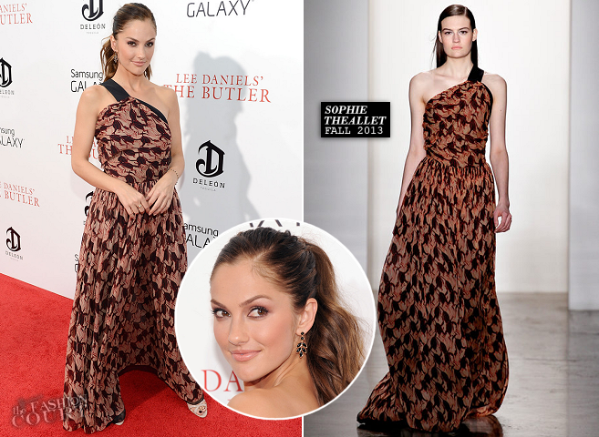 Minka Kelly in Sophie Theallet | 'The Butler' NYC Premiere