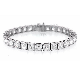 Norman Silverman Diamond Band and Tennis Bracelet