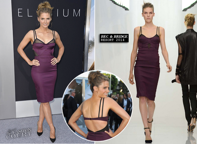 Stana Katic in Bec & Bridge | 'Elysium' LA Premiere