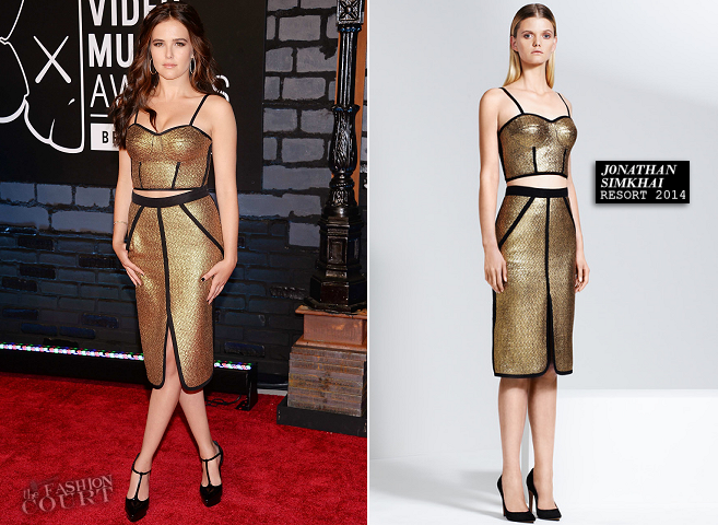 Zoey Deutch in Jonathan Simkhai | 2013 MTV Video Music Awards