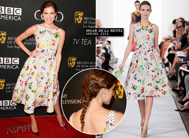 Allison Williams in Oscar de la Renta | BAFTA LA TV Tea 2013
