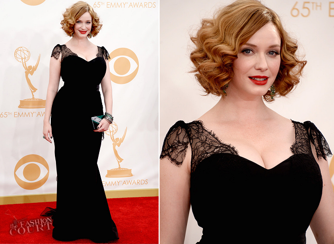Christina Hendricks in Christian Siriano | 2013 Emmys