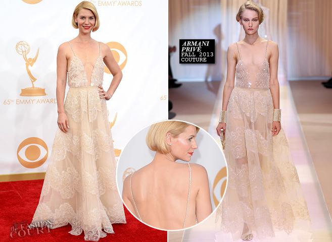 Claire Danes in Armani Privé | 2013 Emmys