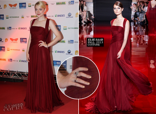 Dakota Fanning in Elie Saab Couture | 'Night Moves' Premiere - 2013 Rio Film Festival