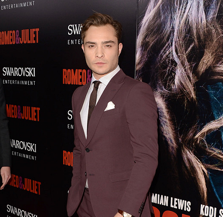 Ed Westwick in Zegna | 'Romeo & Juliet' Hollywood Premiere