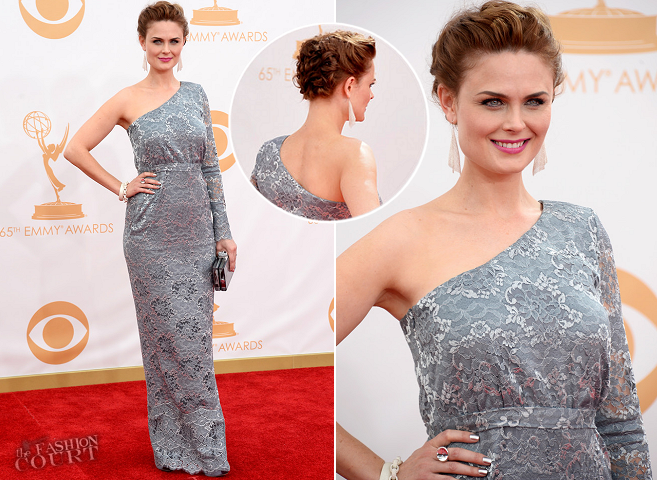 emily deschanel in houghton 2013 emmys � the fashion court