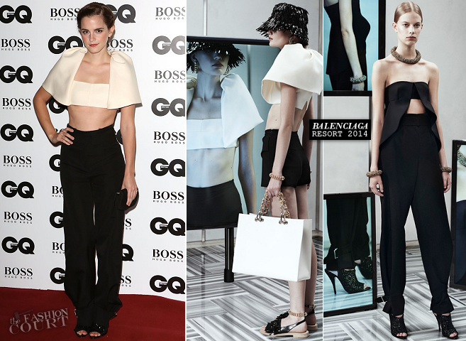 Emma Watson in Balenciaga | GQ Men of the Year Awards 2013