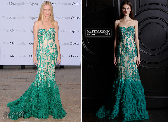 Heather Graham in Naeem Khan | Metropolitan Opera Season Opening 2013