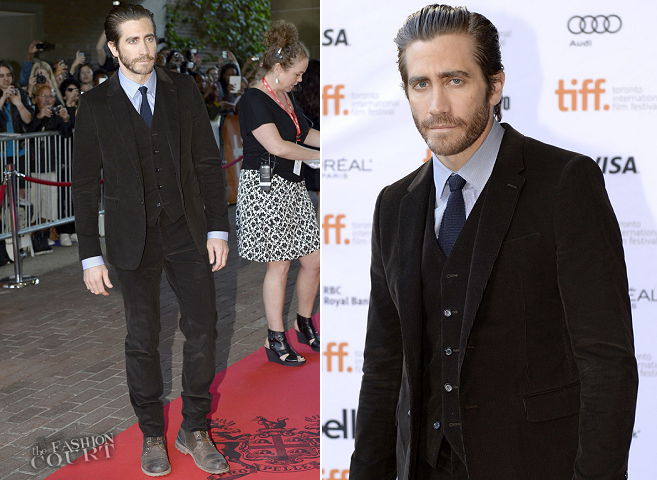 Jake Gyllenhaal in Burberry Prorsum | 'Enemy' Premiere - 2013 Toronto International Film Festival
