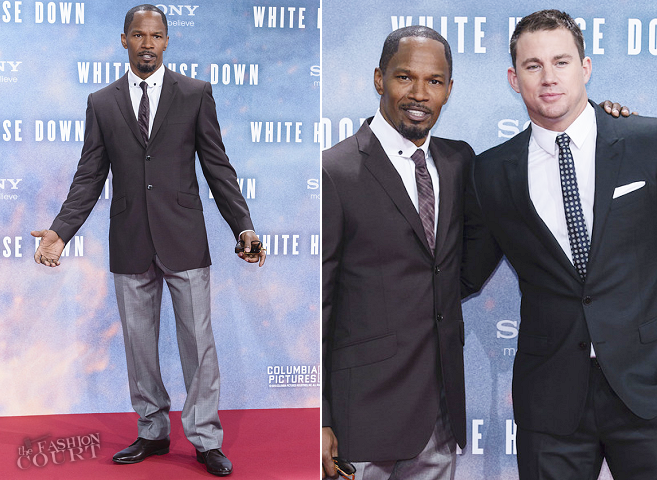 Jamie Foxx in Ozwald Boateng | 'White House Down' Berlin Premiere