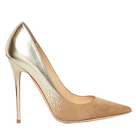 Jimmy Choo Silver ANOUK Suede Degrade Pumps