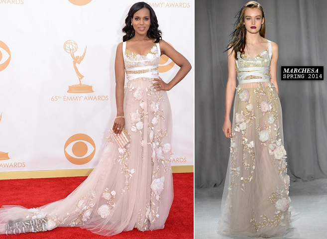 Kerry Washington in Marchesa | 2013 Emmys