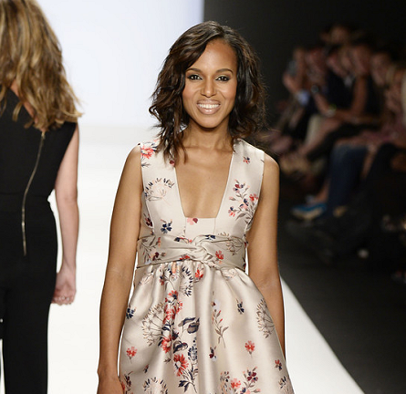Kerry Washington in Stella McCartney | NYFW Spring 2014 - 'Project Runway' Show